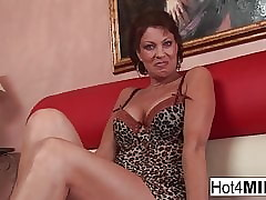Well-endowed MILF Vanessa takes..