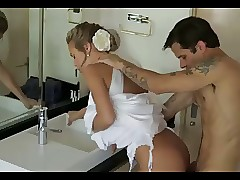 Milf cheats elbow the brush..