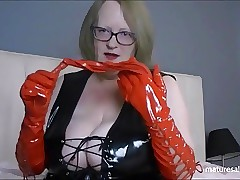Perfidious PVC attire with the..