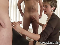 Son Sonia fucks 2 guys gets..