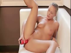 alone curse at up red-hot dildo
