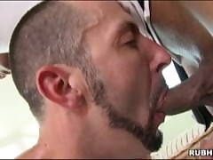 Inky masseuse fucks his..