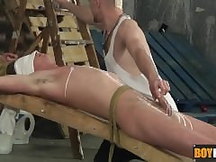 Enslaved twink gets his penis..