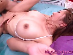 Squirting asian milf gulps cum