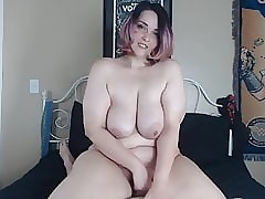 Hot BBW Teen Rides A Heavy..