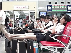Asian Airport Cunt near Pantyhose